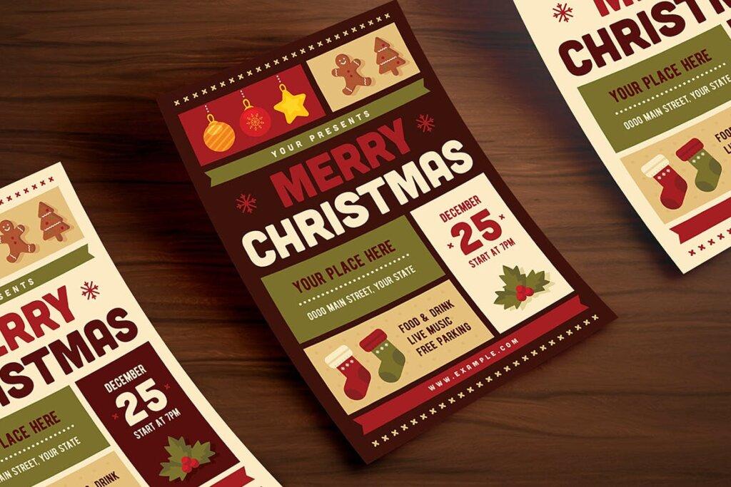 圣诞节互动派对传单模版素材PS2HM6插图(2)