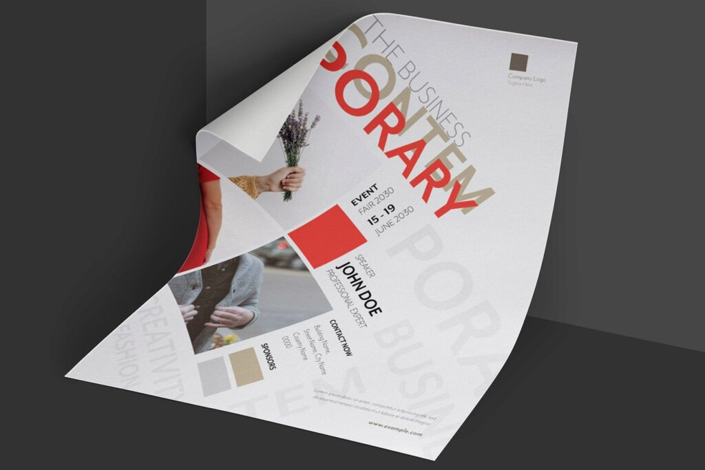 年度分享交流会简约风设计传单海报模板Clean Minimal Creative Event Flyer插图(2)