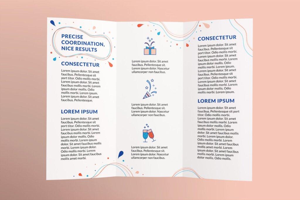 简约文艺时尚风格宣传活动折页模板Event Planner Brochure Trifold插图(2)