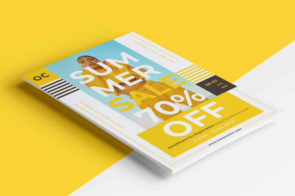 夏季促销时尚行业服装行业大促销海报传单模板素材下载476JFF插图(2)
