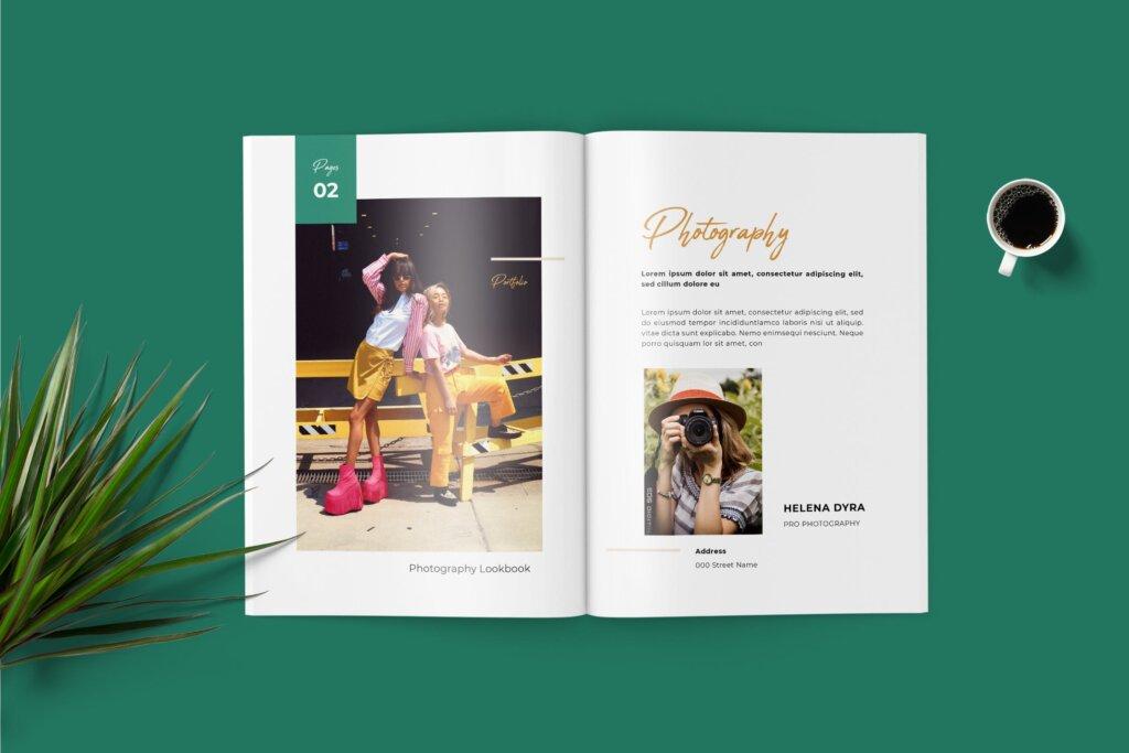 时尚行业打印模板画册模板素材下载Fashion Lookbook Portfolio插图(2)
