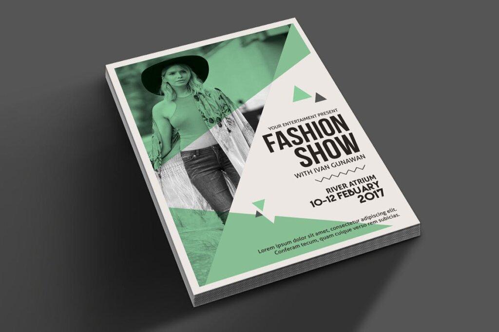 精致高端时尚服装秀海报传单模板素材下载Fashion Show Flyer 3RDJU6插图(2)