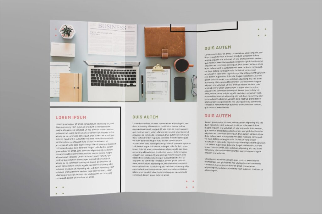 商务时尚现代产品宣传这模板素材下载Finance and Accounting Brochure Trifold插图(2)