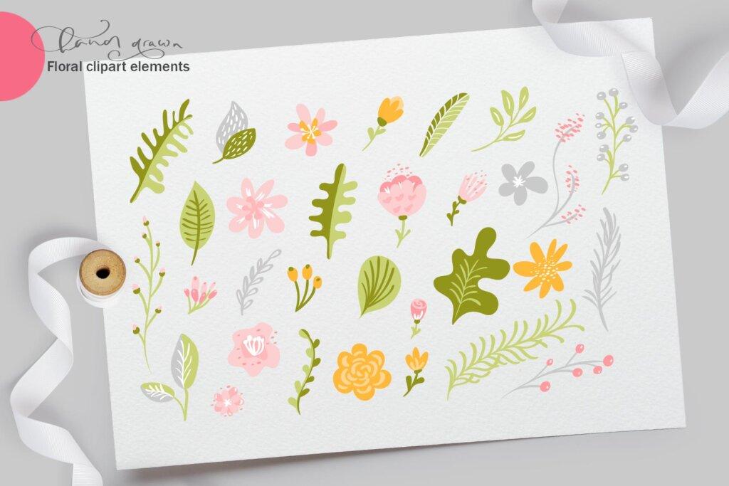 品牌标志图案纹理/品牌包装装饰图案纹理素材Fresh Feeling Spring Vector Kit SVG插图(2)