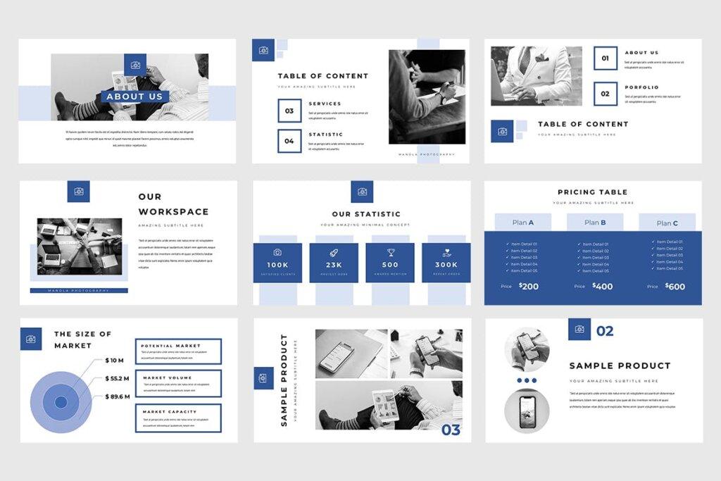 企业融资策划提案幻灯片PPT模版下载Manola Pitch Deck Powerpoint Presentation插图(2)