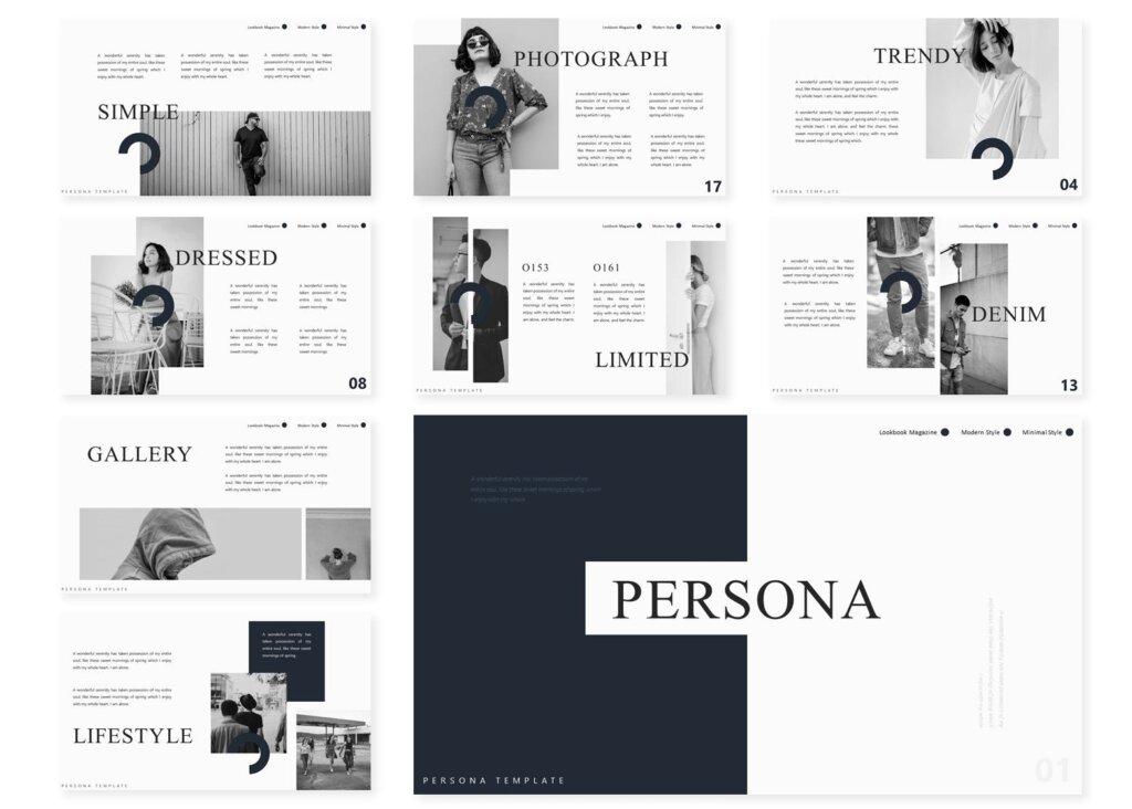 企业市场策划模板幻灯片PPT模板素材xiaPersona Powerpoint Template插图(2)