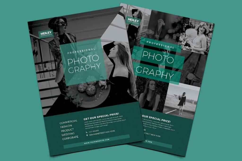 文艺简约摄影比赛活动传单海报模板Photography Flyer VL89UM插图(2)