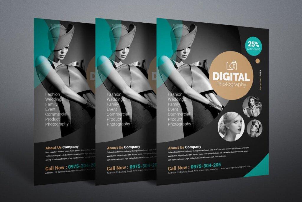 摄影主题活动派对传单海报模板素材Photography Flyer QVXVBW插图(2)
