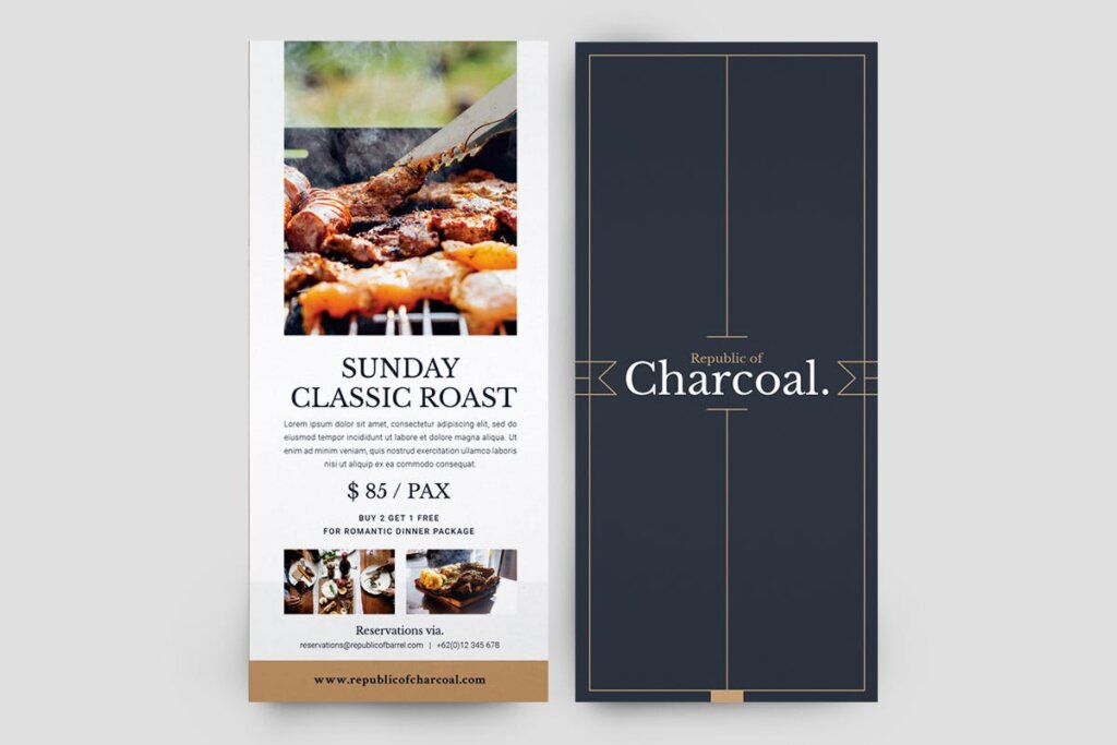 西餐美食餐饮料理菜单模板素材下载2J9RPDZ插图(2)
