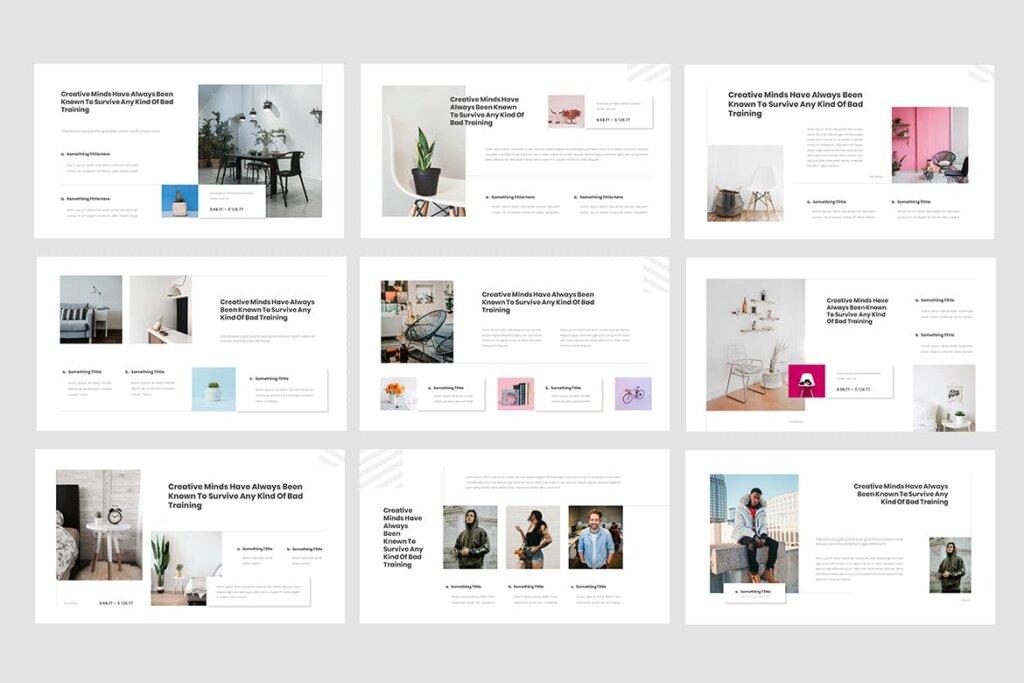 企业商务投资汇报市场销售数据PPT幻灯片模版下载Rioust Interior Design Powerpoint Template插图(2)