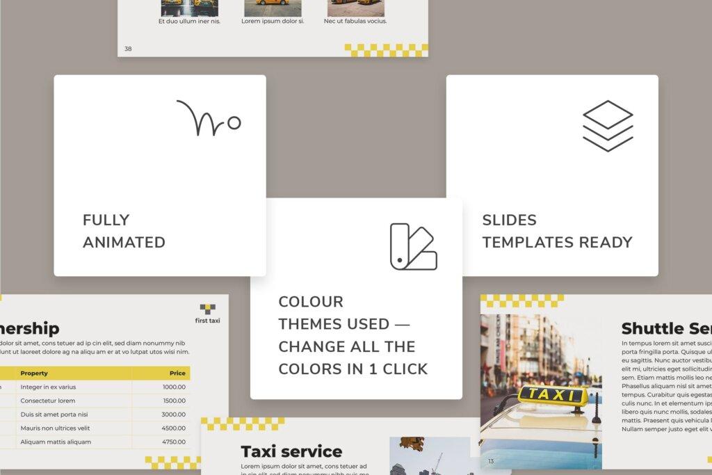 出租车行业数据大调查数据汇报幻灯片PPT模版Taxi Services PowerPoint Presentation Template插图(2)