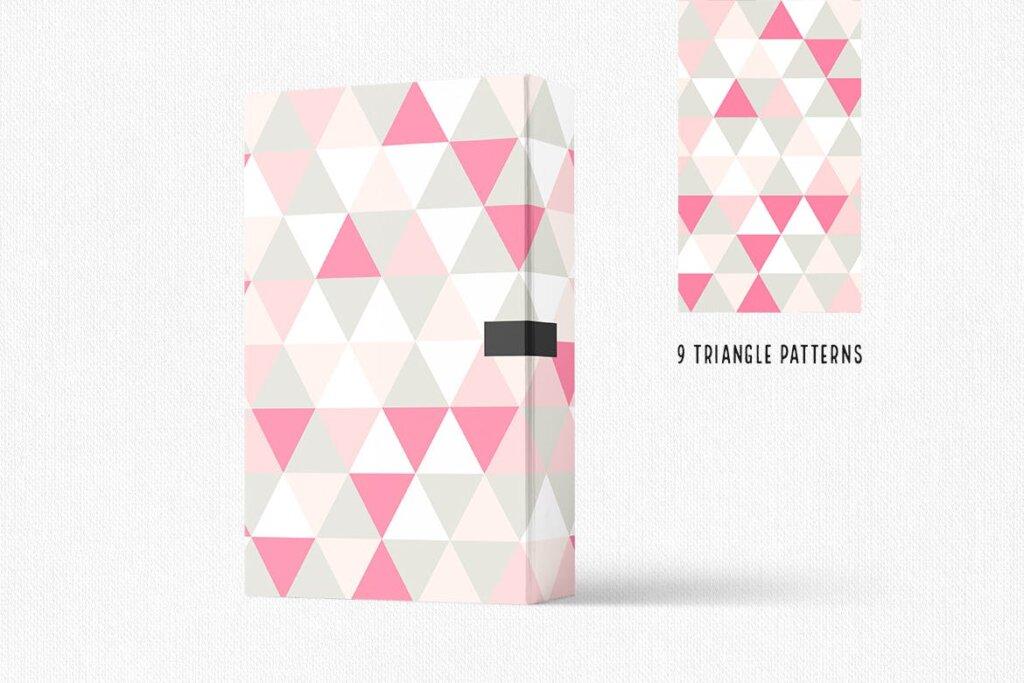 三角形平面构成图形图案纹理素材/品牌购物几何图形肌理图形纹理素材Triangle Patterns插图(2)