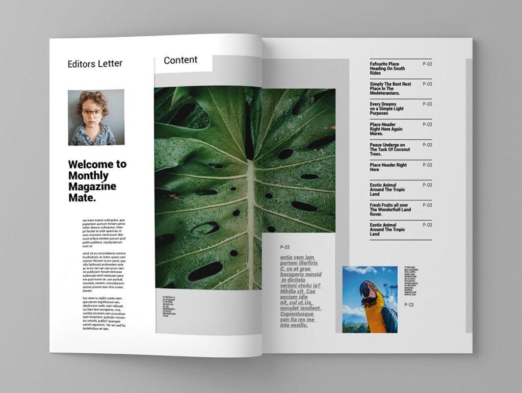 简约大气旅游杂志传单海报模板素材下载Tropika Magazine Template插图(2)