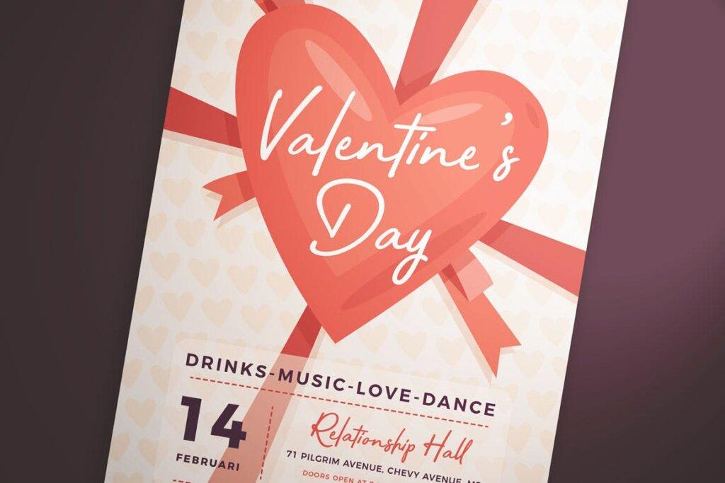情人节派对/情人节节日海报传单模版素材下载Valentine's Day Flyer Vol. 01插图(2)