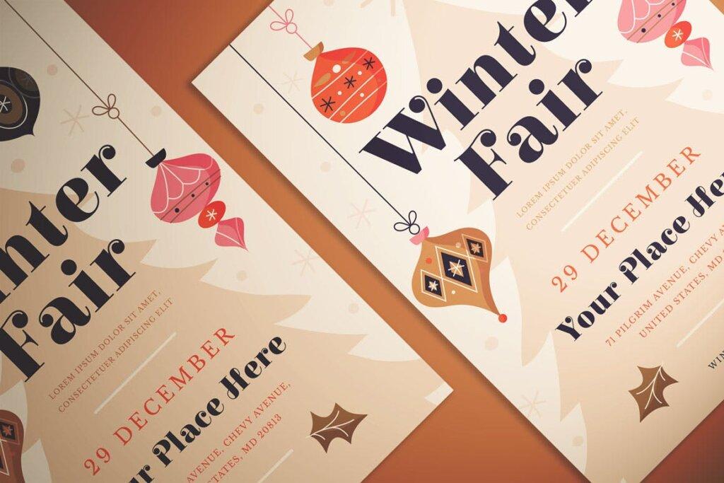 冬季展览会传单海报模板素材下载7PF2P3H插图(1)