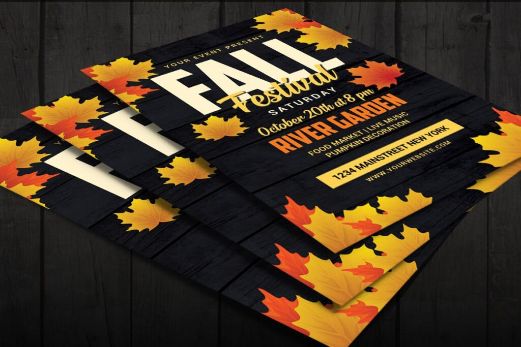 秋季商品促销海报传单模板素材下载5JDPUJ插图(3)