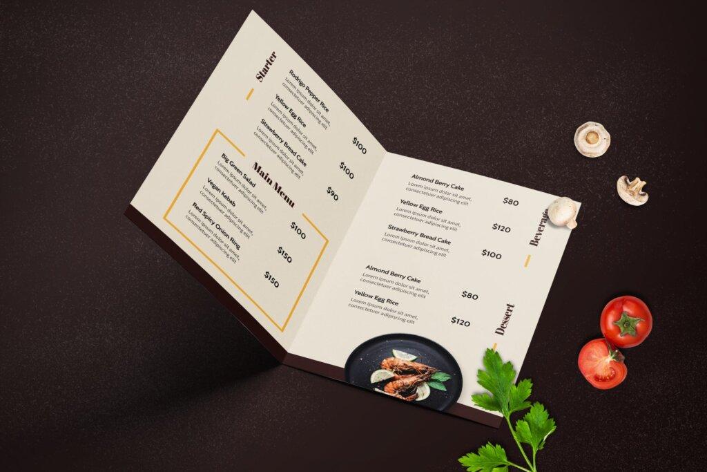 咖啡厅菜单/西餐美食料理模板素材下载HPBFAGX插图(3)