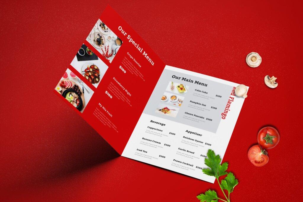 双折页餐厅菜单模板传单海报素材下载Bifold Restaurant Menu Template插图(3)