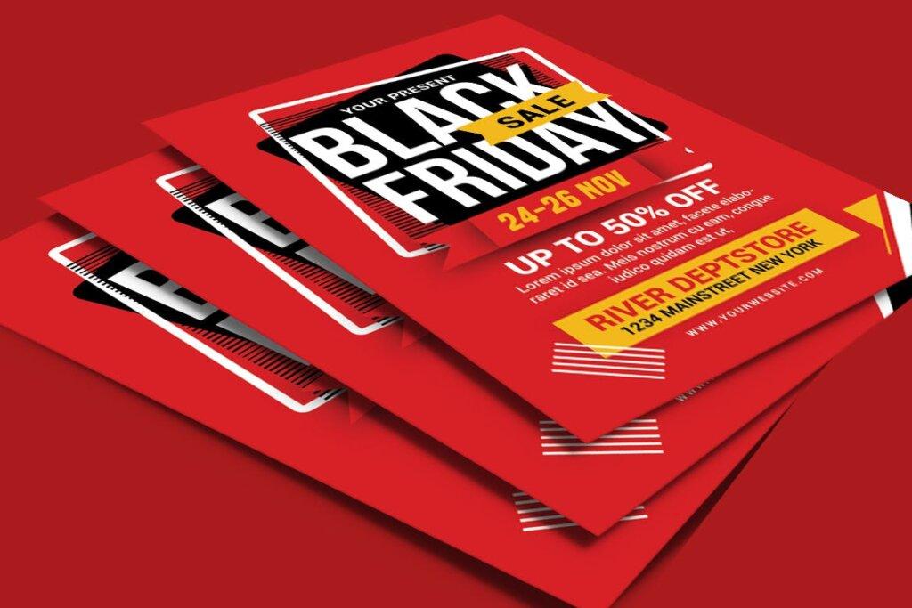 黑色星期五促销活动传单海报模版素材2M4WJM插图(3)