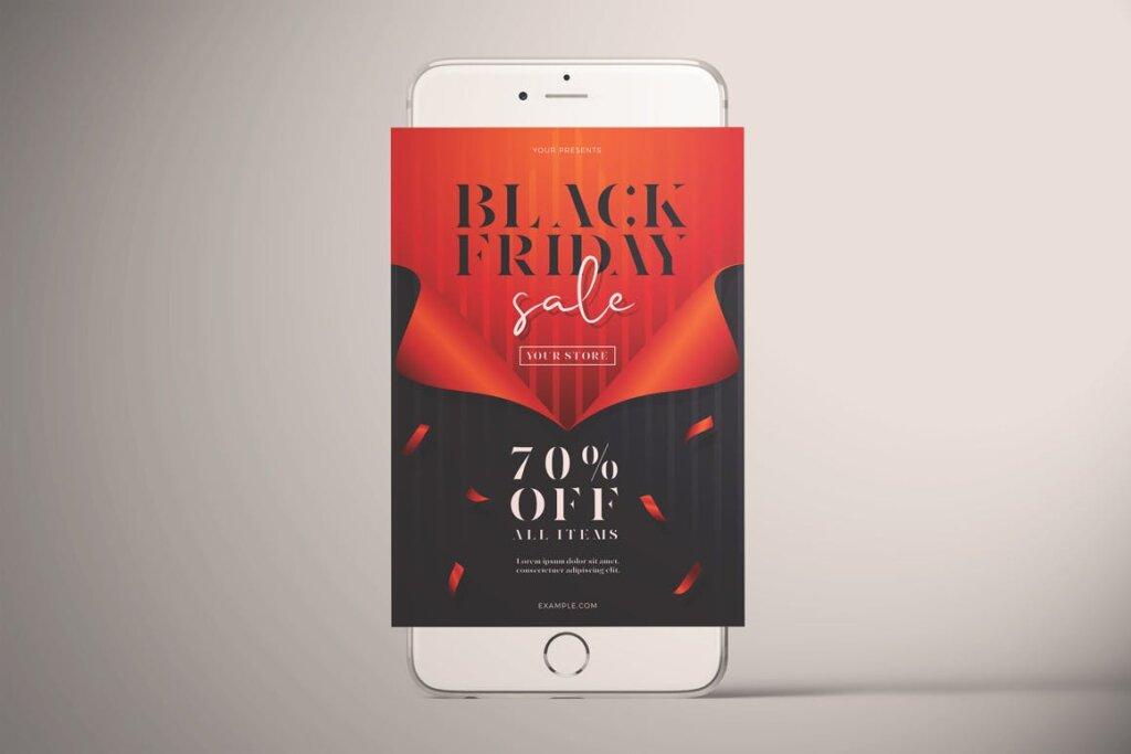 黑色星期五销售传单海报模版素材下载Black Friday Sale Flyer Vol 01插图(3)