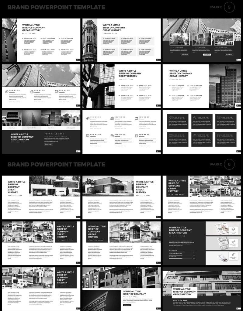 美食品牌幻灯片PPT模板素材下载Brand PowerPoint Presentation Template插图(3)