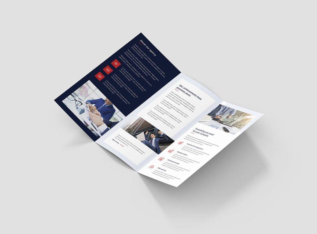 IT解决方案企业策划营销三折页模版素材下载Brochure IT Solutions Tri Fold插图(3)