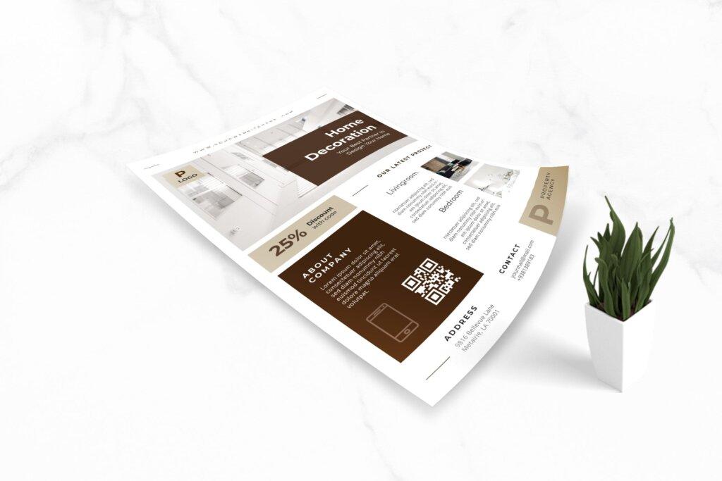 欧美室内设计装修促销海报传单模板素材SBW38QH插图(3)