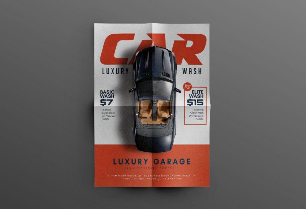 洗车传单活动促销海报传单模版素材下载SHF7R3T插图(3)