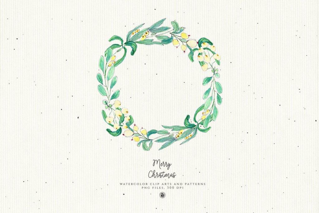 圣诞节水彩装饰元素/圣诞树图案素材Christmas Decorations 2F4YD65插图(3)