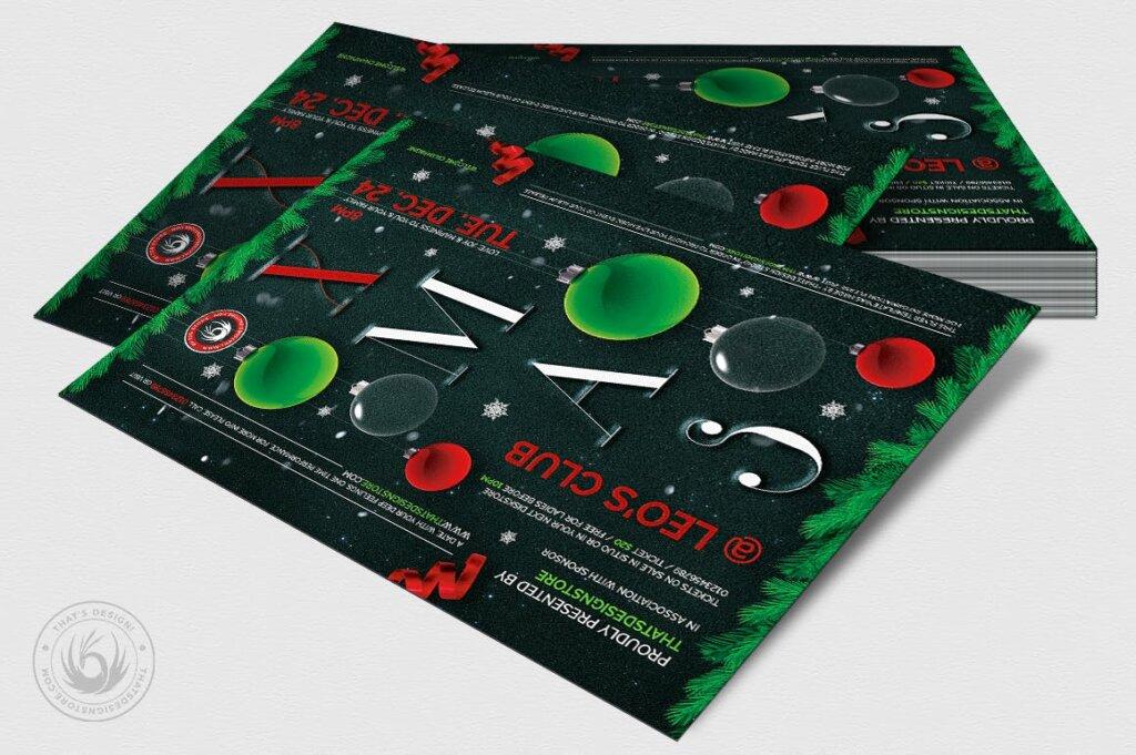 精致文艺平安夜/圣诞节传单海报模板Christmas Eve Flyer Template V13插图(3)