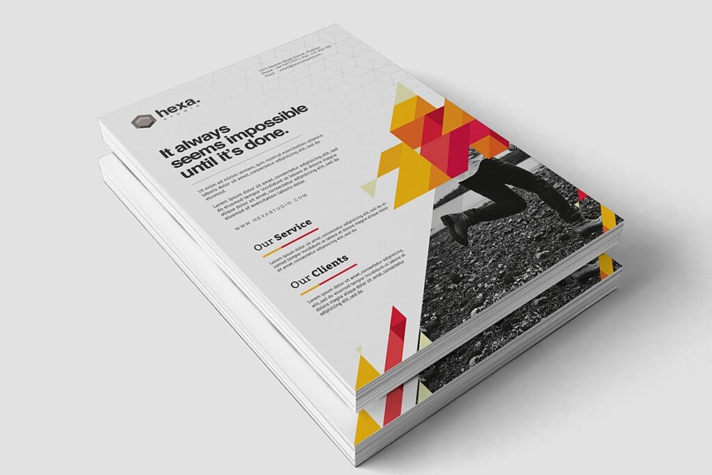 公司商务宣传/产品介绍模板素材下载Creative Corporate Flyer插图(3)