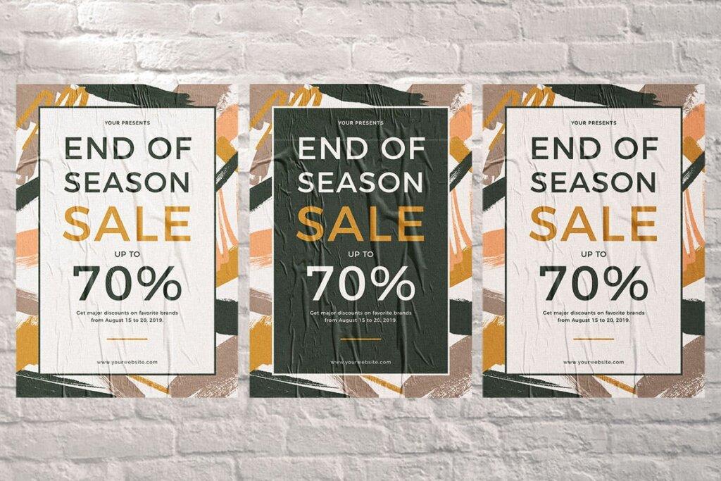大型季末促销传单海报模板End of Season Sale Flyer插图(3)