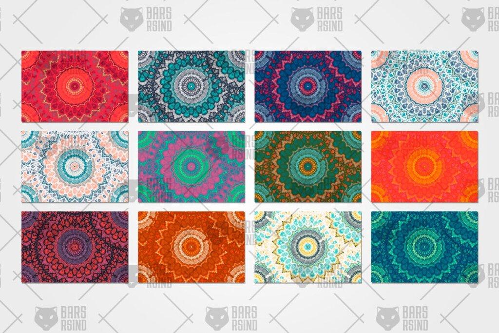 12个波西米亚风格装饰图案纹理素材Ethnic Seamless Pattern插图(3)
