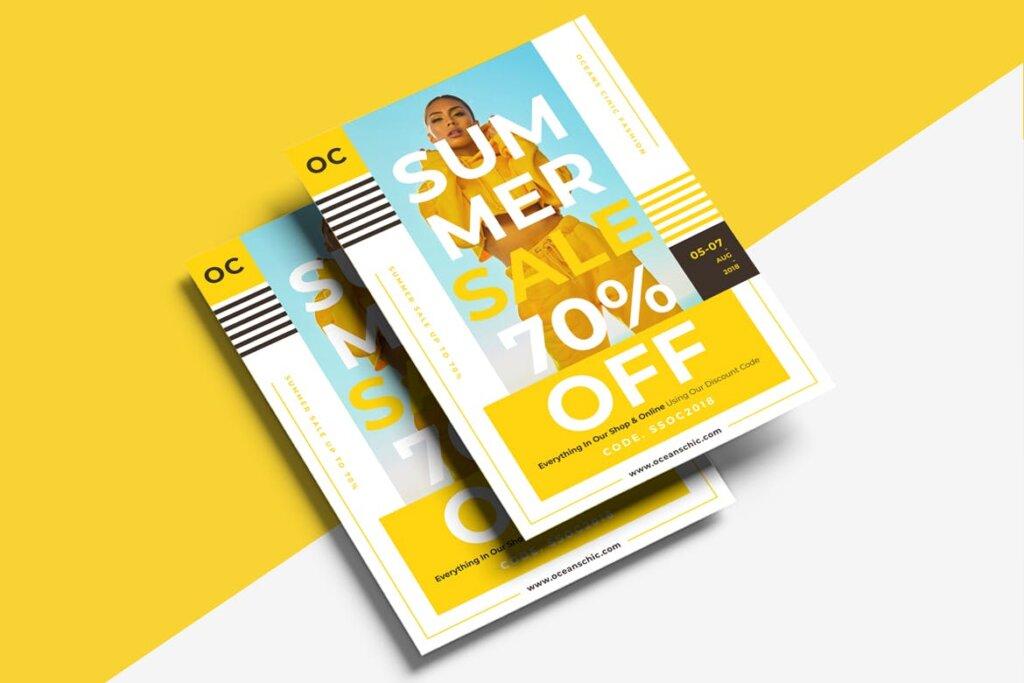 夏季促销时尚行业服装行业大促销海报传单模板素材下载476JFF插图(3)