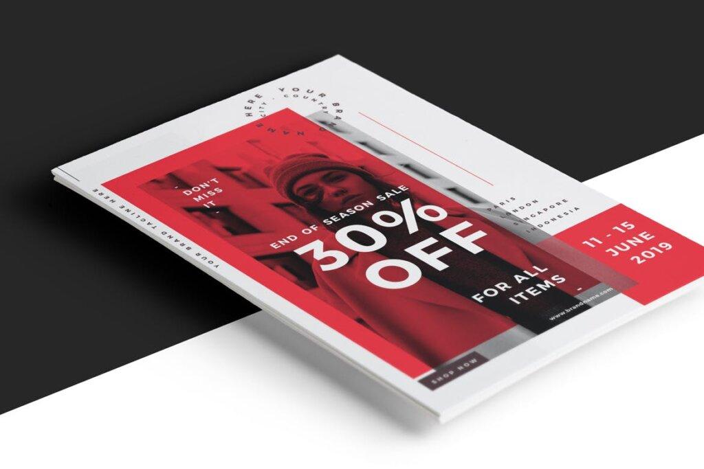 国际服装大牌发布会/时装秀创意海报模板Fashion Flyer FY335E插图(3)