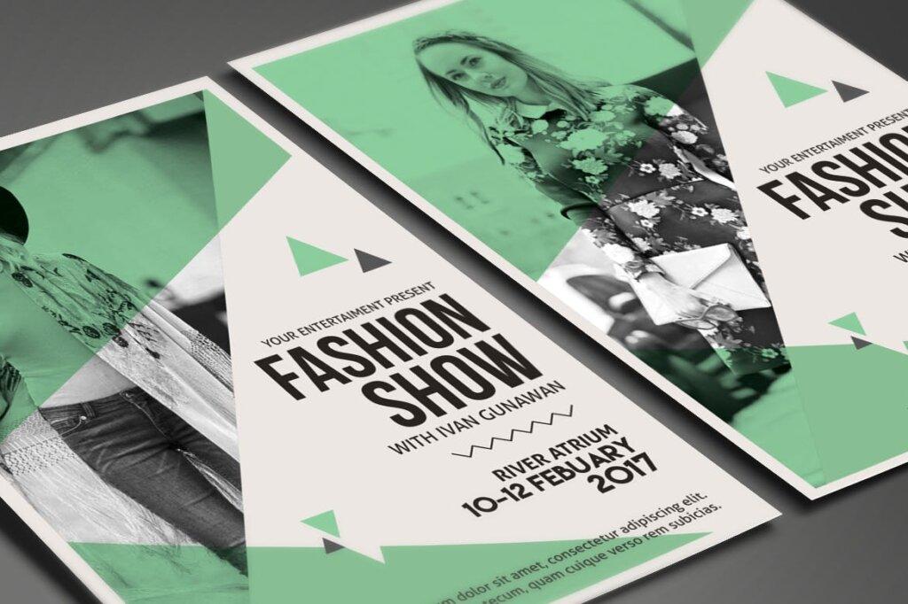 精致高端时尚服装秀海报传单模板素材下载Fashion Show Flyer 3RDJU6插图(3)
