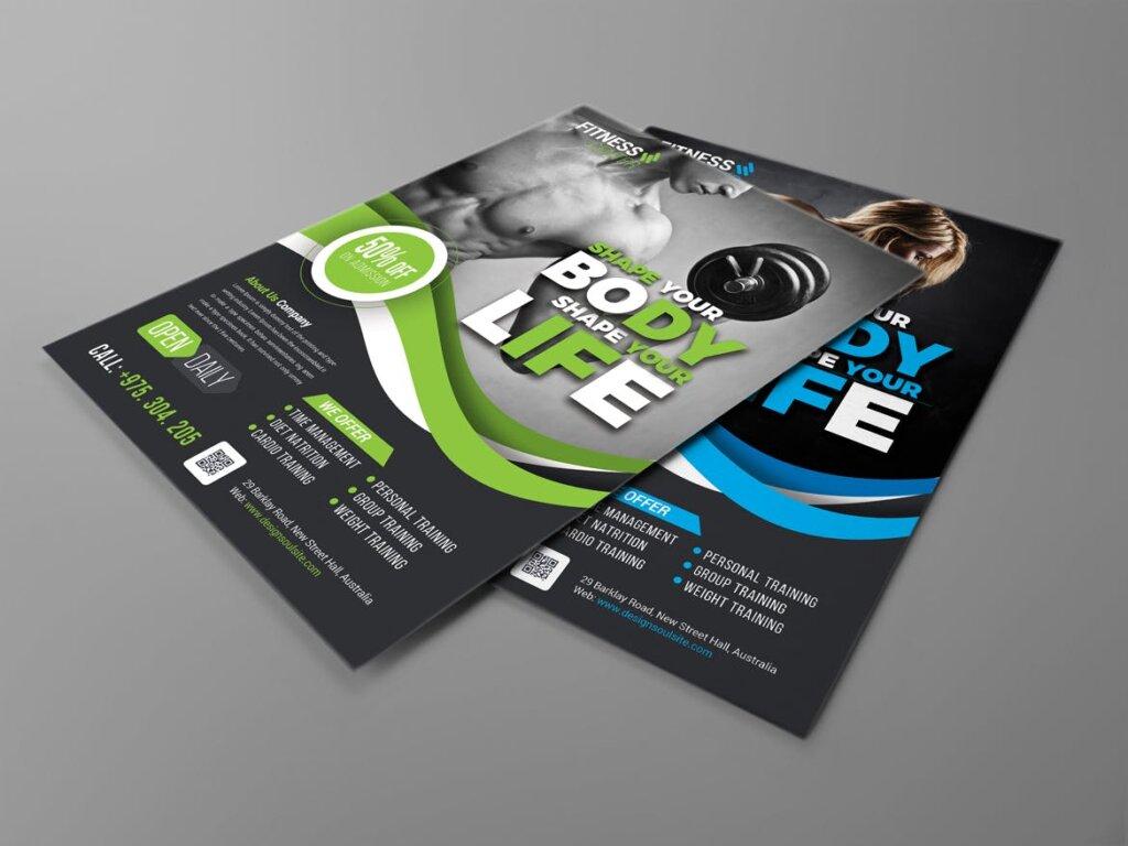 健身房互动派对海报传单模板素材下载Q9PCNB插图(3)