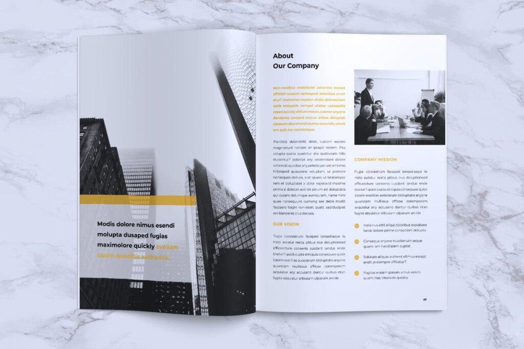 企业产品手册画册模板素材下载INFORM Company Profile Brochure插图(3)