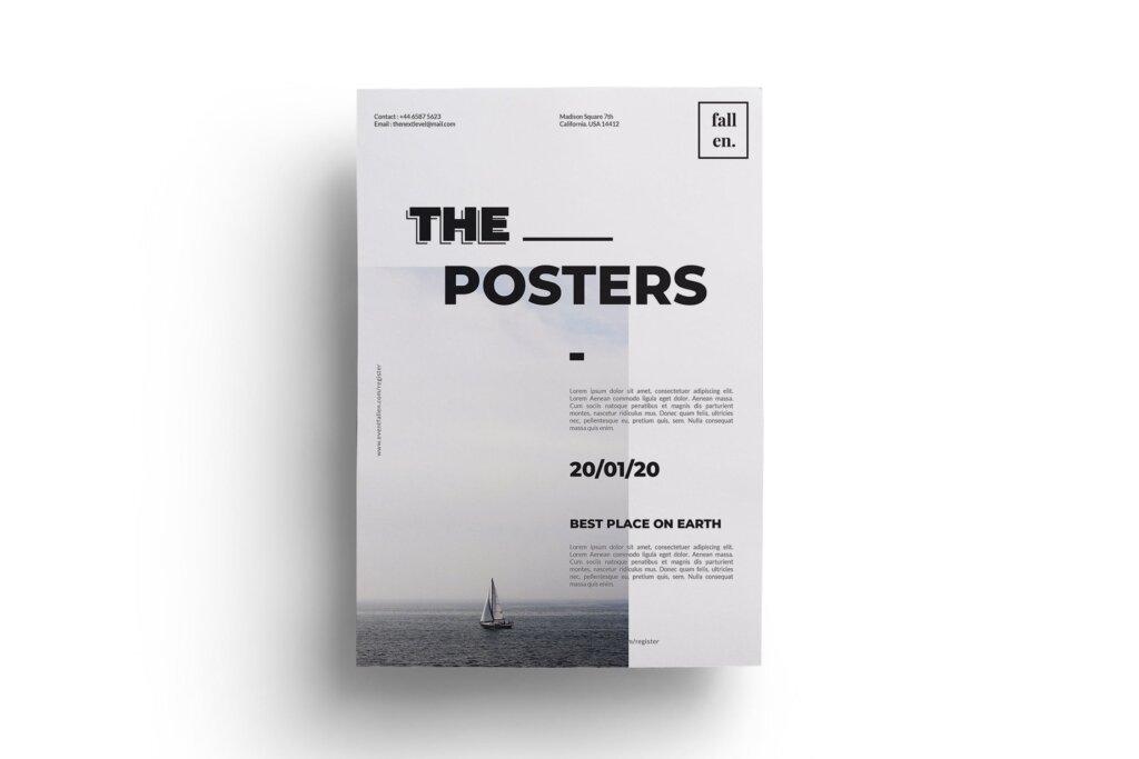 简约设计设计讲座/用户体验大会海报传单模板Minimal Event Flyer 3W6EW94插图(3)
