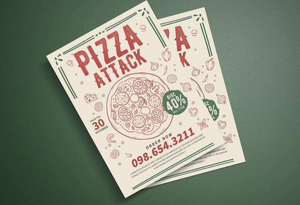 披萨派对传单海报模版素材下载833NYX插图(3)