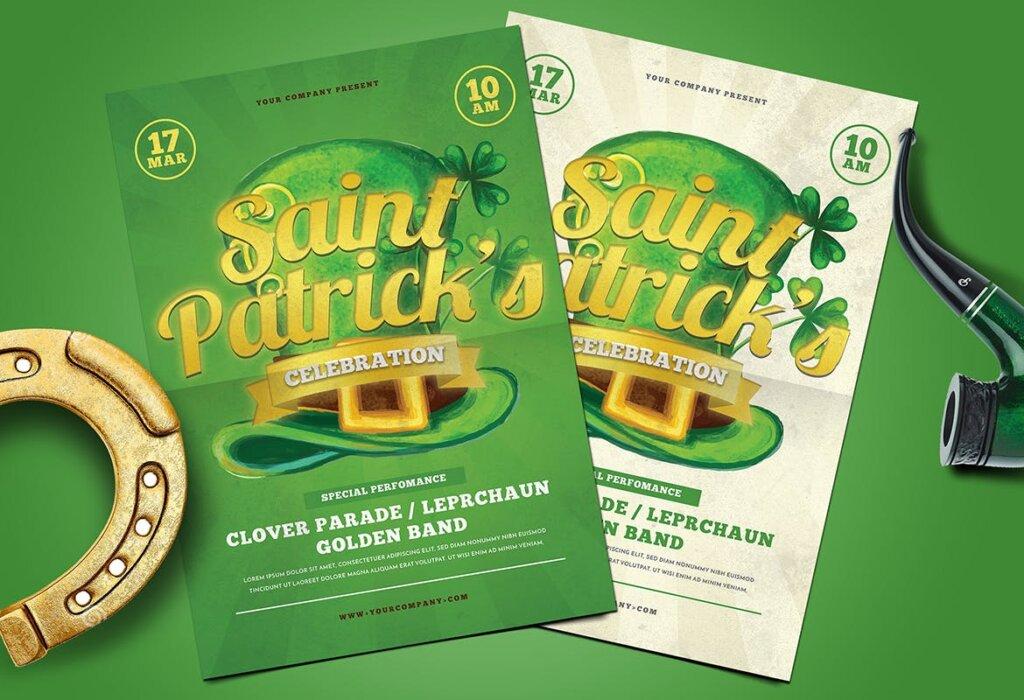夏日啤酒派对传单海报模板素材Saint Patrick Celebration 5K976L插图(2)