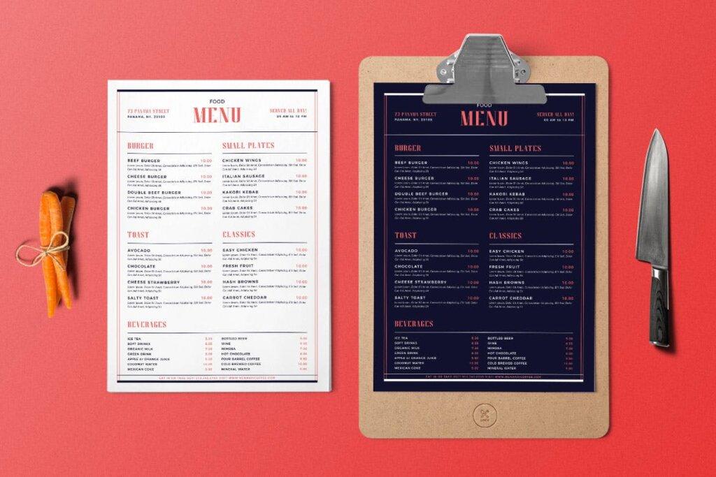简单的现代食品菜单美食传单模板素材Simple Modern Food Menu插图(3)