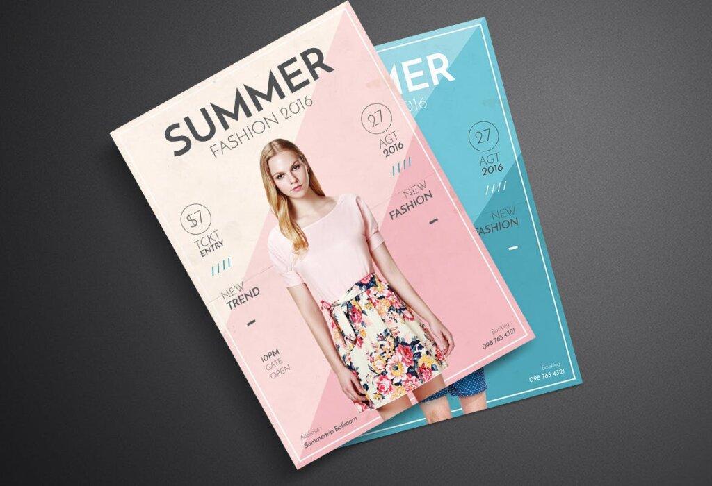 夏季时尚服装促销传单海报模板素材Summer Fashion Flyer 4EVN78插图(3)