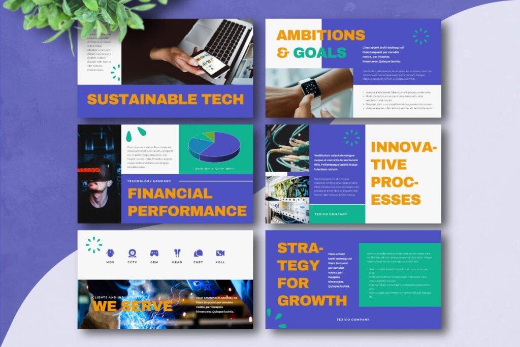 云概念云生活主题演讲幻灯片PPT模版TEXICO Technology Company Powerpoint Template插图(3)