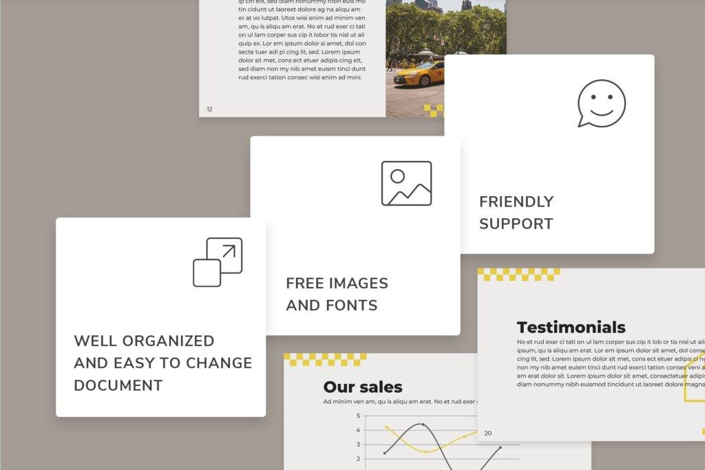 出租车行业数据大调查数据汇报幻灯片PPT模版Taxi Services PowerPoint Presentation Template插图(3)