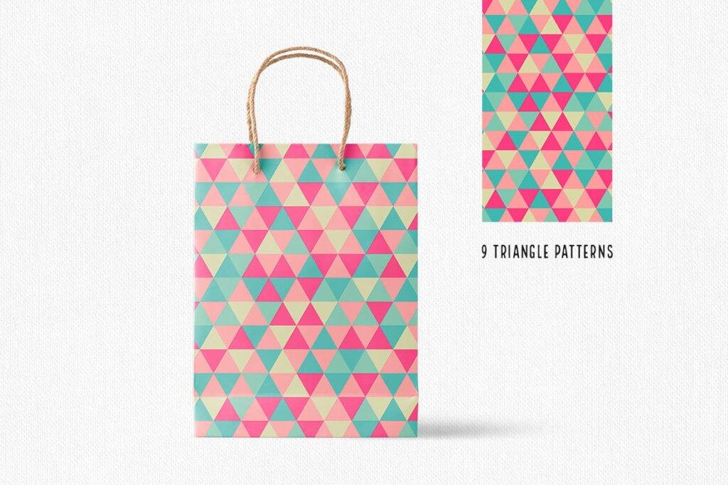 三角形平面构成图形图案纹理素材/品牌购物几何图形肌理图形纹理素材Triangle Patterns插图(3)