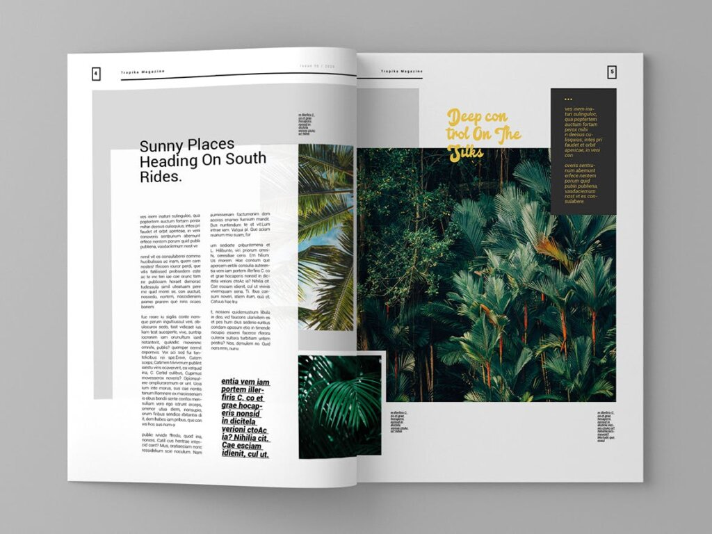 简约大气旅游杂志传单海报模板素材下载Tropika Magazine Template插图(3)