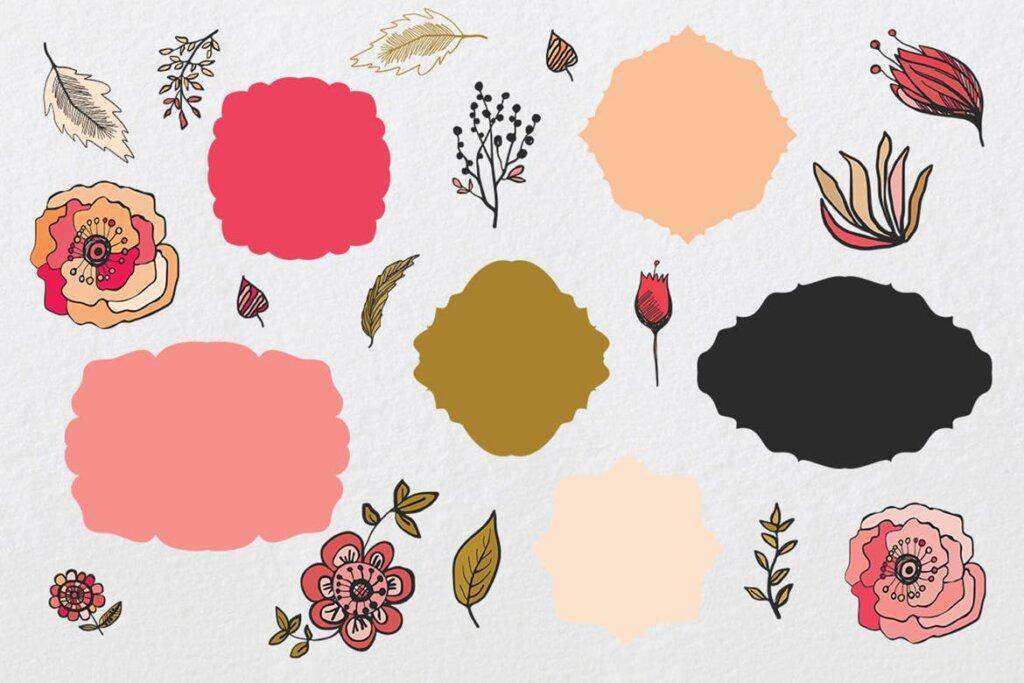 时尚服装品牌装饰图案纹理素材Warm Flowers CN55XA插图(3)