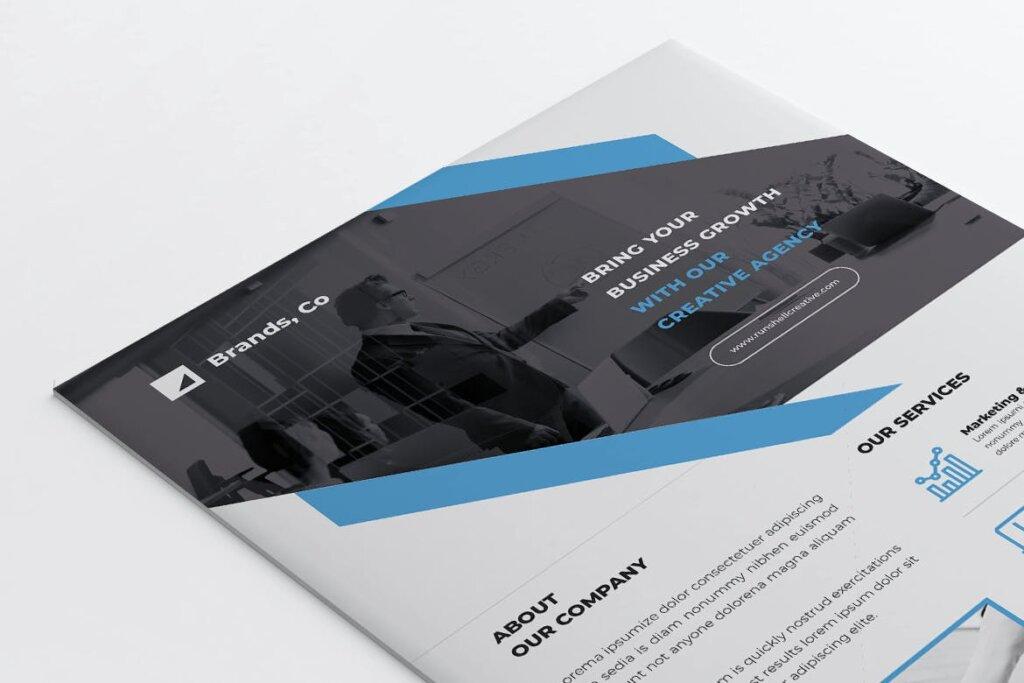 企业商务传单海报模板素材下载BRANDS插图(4)