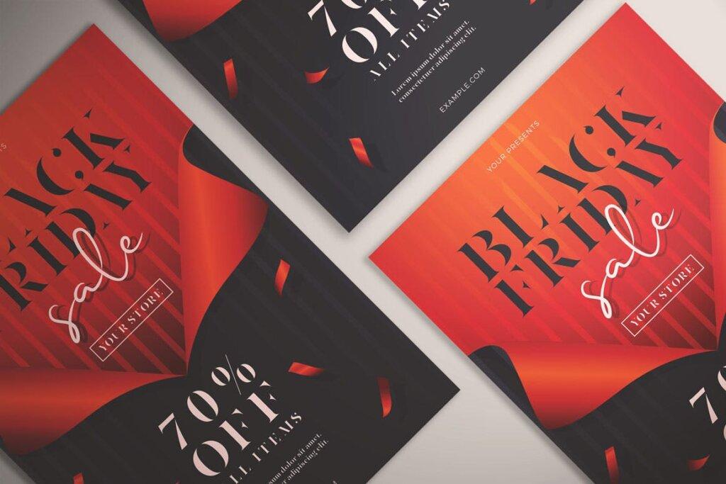 黑色星期五销售传单海报模版素材下载Black Friday Sale Flyer Vol 01插图(4)